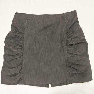 Dots Ruched Black Mini Skirt Size 22